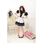 Frilled Maid Cosplay Costume with Bonnet-Style Head Dress