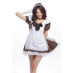 Alice in Wonderland Puff Sleeve Maid Cosplay Costume - Brown