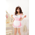 Front Ribbon Off Shoulder Maid Cosplay Costume