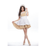Frilled Shoulder Maid Cosplay Costume with Antique-style Head Dress