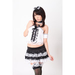 Front Ribbon Frilled Lace Lolita-Style Maid Cosplay Costume