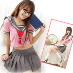 Japanese High-School 'Sailor' Uniform-Style Cosplay Costume (Pink)