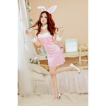 Furry Bunny She -Devil Camisole Dress Cosplay Costume (Pink)