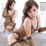 Leopard Seductress Cosplay Costume with Stockings