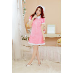 Two-Way Maid/Nurse Cosplay Costume Set (Pink)
