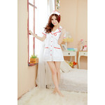 Front-Opening Nurse Cosplay Costume