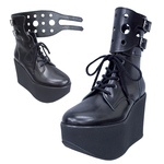 BELLY BUTTON No.212 / Black Smooth Combat boots