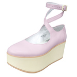 BELLY BUTTON No.922 / Pink smooth Platforms