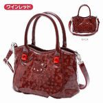 Sanrio Limited SAVOY × Hello Kitty enamel-like Handbag Shoulder bag Wine red