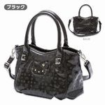 Sanrio Limited SAVOY × Hello Kitty enamel-like Handbag Shoulder bag Black
