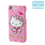 Hello Kitty iPhone5 cover (quilted leather)