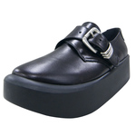 BELLY BUTTON No.884 / Black Smooth Monk Straps