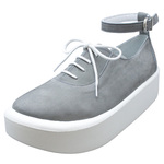 BELLY BUTTON No.870 / Gray nubuck shoes