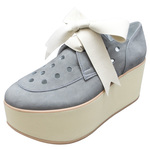 BELLY BUTTON No.923 / Gray ribbon Platforms