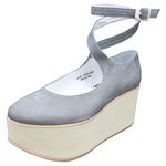 BELLY BUTTON No.922 / Gray nubuck Platforms shoes