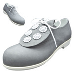 BELLY BUTTON No.270 / Gray nubuck leather