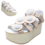 BELLY BUTTON No.933 / Pink nubuck Platform sandals