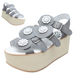 BELLY BUTTON No.933 / Gray nubuck Platform sandals
