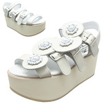 BELLY BUTTON No.933 / Ivory Platform sandals