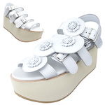 BELLY BUTTON No.933 / White Platform sandals
