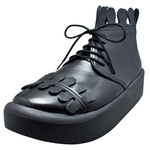 BELLY BUTTON No.8808 / Black smooth Milk-crown shoes