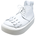 BELLY BUTTON No.8808 / White smooth Milk-crown shoes
