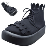 BELLY BUTTON No.8808 / Black R Milk-crown shoes (imitation leather)