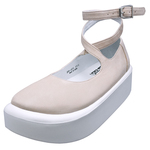 BELLY BUTTON No.871 / Pink Nubuck ballerina shoes