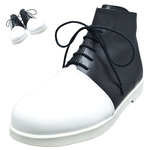 BELLY BUTTON No.280 / White and Black high-cut shoes