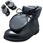 BELLY BUTTON No.281 / Black smooth leather pad-toungh shoes