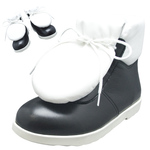 BELLY BUTTON No.281 / Black and White combination pad-toungh shoes