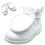 BELLY BUTTON No.281 / White smooth leather pad-toungh shoes