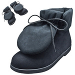 "BELLY BUTTON No.281 / Black ""R"" pad-toungh shoes"