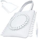TOKYO BOPPER No.11120/White Milkcrown tote bag