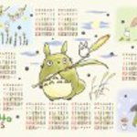 1000 pieces and my Neighbor Totoro 2015 calendar jigsaw puzzle 1000-C151