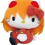 EVANGELION Synchronized with HELLO KITTY Plush Doll S Shikinami