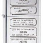 Zippo BTM Stamp High Polish Lighter (Silver, 5 1/2 x 3 1/2-cm)