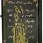 Zippo lighter regular Maria (Maria) BN/G Black nickel