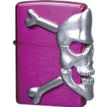 Scary metal paste porcelain ZIPPO (Zippo) BIG SKULL METAL big / skull / metal BIG-SKULL (M) Purple Purple paint clear