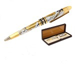 "Traditional Maki-e Ball-point Pen ""The Great Wave off Kanagawa"""