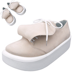 BELLY BUTTON No.873 / Round-tongue Pink nubuck shoes