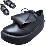 BELLY BUTTON No.873 / Round-tongue Black leather shoes