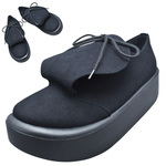 BELLY BUTTON No.873 / Round-tongue Black R shoes