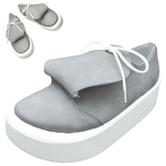 BELLY BUTTON No.873 / Round-tongue Gray nubuck shoes