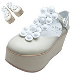 TOKYO BOPPER No.925 / Ivory Smooth leather Platforms