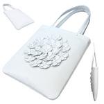 TOKYO BOPPER No.11170/White flower tote bag