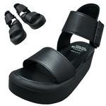 TOKYO BOPPER No.891 / Black Platforms Sandal
