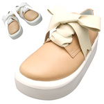 TOKYO BOPPER No.875 /  Natural smooth leather ribbon shoes