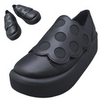 TOKYO BOPPER No.876 /  Black smooth dot shoes