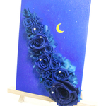 [Preserved flower / starry canvas arrange] blue blue rose of mystery stained starry sky